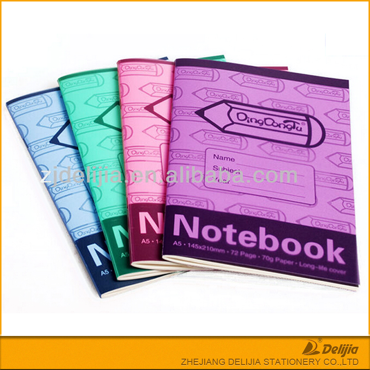 China supplies student exercise book cheap custom ruled composition notebook