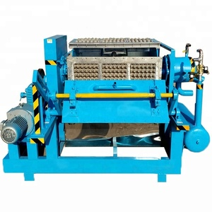 High speed 2200-2500 pieces per hour small carton egg tray making machine