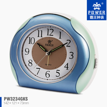 Mini Plastic Three Color Option Sweep Quartz Movement Alarm Clock Original Bathroom Clocks Digital Online Og