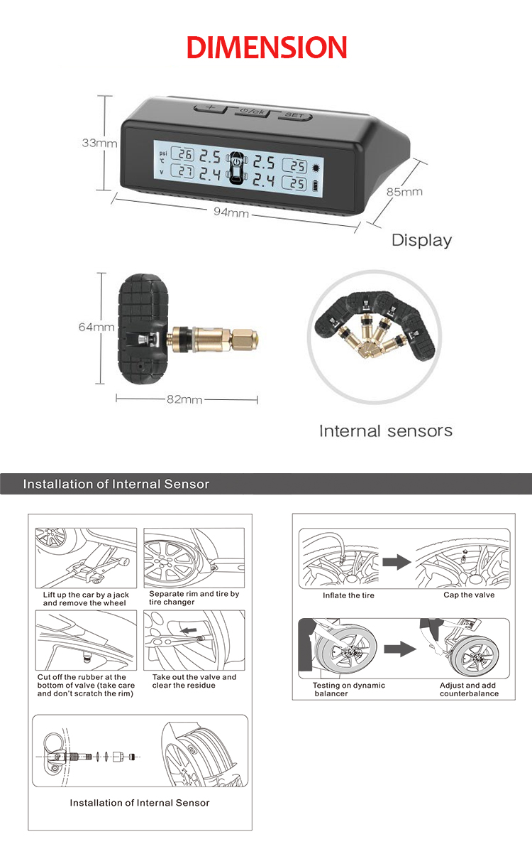 China Professional Supplier tpms with professional sensor