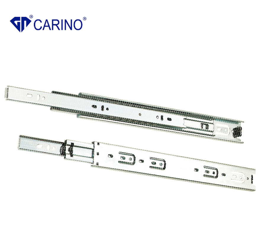 (4503) Top Quality 3-Fold Steel Ball Bearing Slide Telescopic Drawer Channel