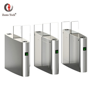 Access control barcod building management system with sliding turnstile gate
