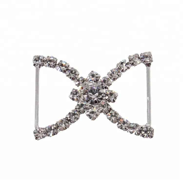 Hot Sale Rhinestone Flower <strong>Buckle</strong> In Zinc Alloy