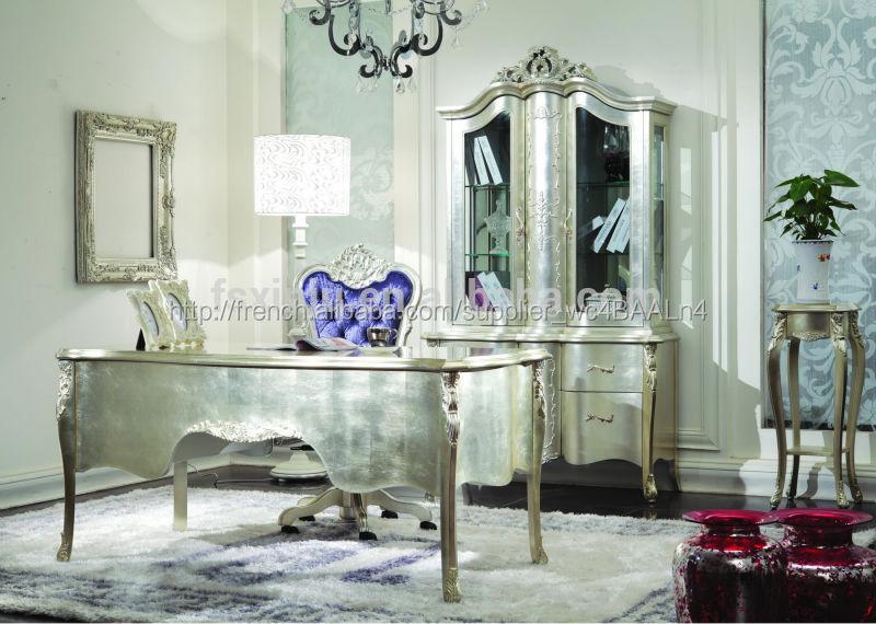 Italien le style baroque classique bureau en bois massif meubles