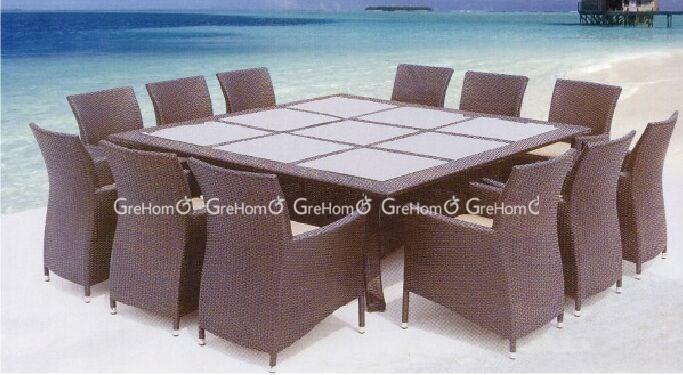 Piscina mobili tavolo da pranzo rattan di grandi dimensioni per 12 posti attrezzi da giardino id - Dimensioni tavolo da pranzo ...