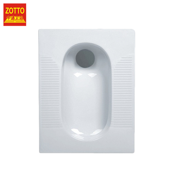 Popular non-slip clean white ceramic wc squat water closet pans cheap standard toilet size squatting pan