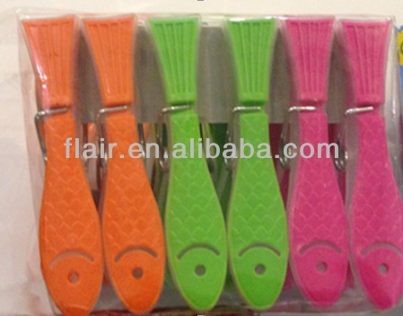 new fish design widly using Soft grip plastic clothes clip