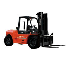 FD100 China Engine 10 tons Container Diesel Loading Fork Lift Truck