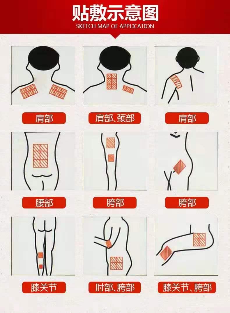 Shaolin hot  menthol medical tiger  capsicum capsaicin pain relief patch plaster