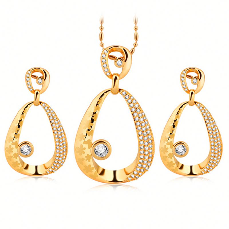 Custom Women 22K Gold Jewellery Dubai Wholesale Jewelry Set