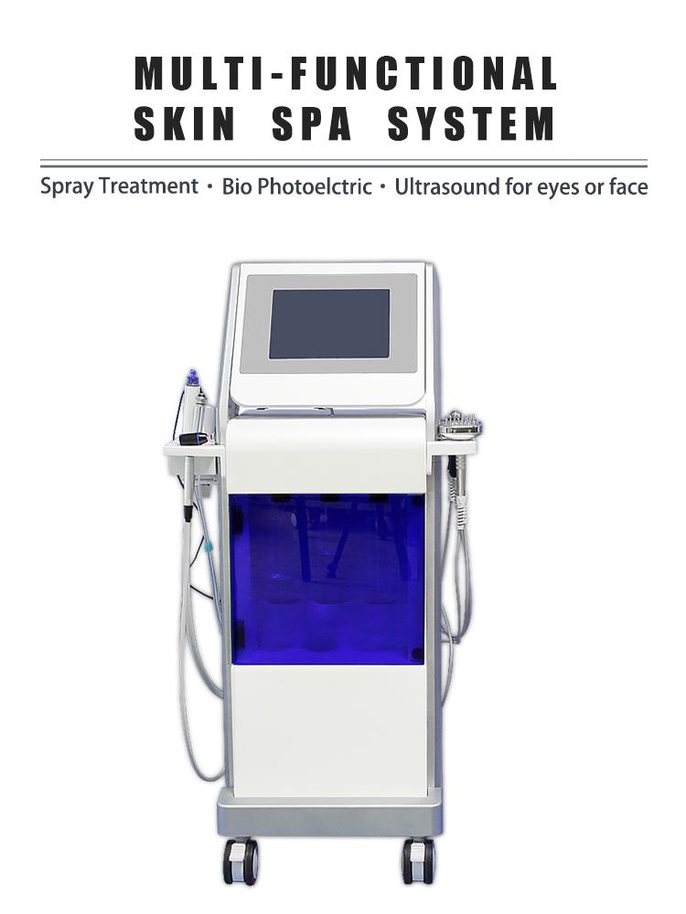 hydra dermabrasion facial machine deep cleansing BIO face lifting led lights beauty salon equipments