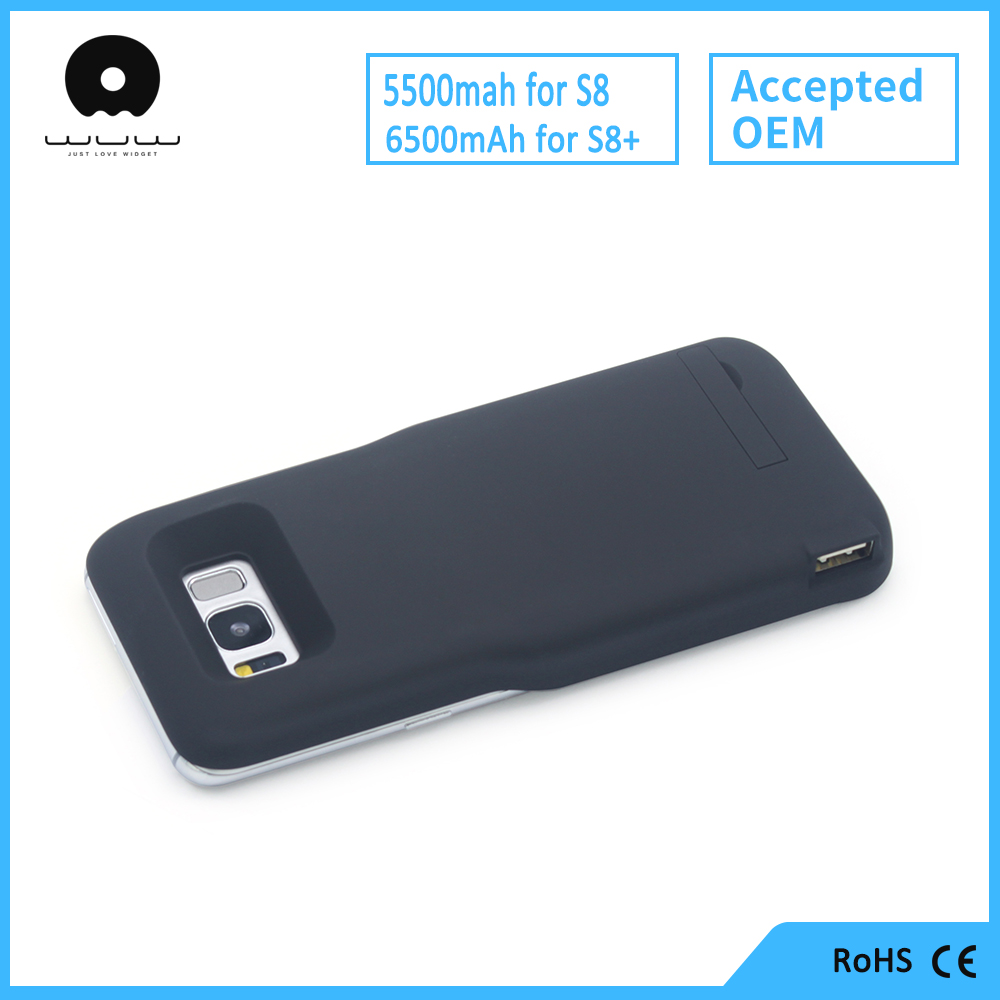 Big Capacity Phone Charger Battery Case S8 s8 plus Quick Charge Power 5500mAh