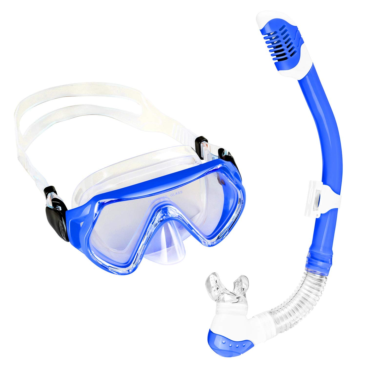 5dacd1cec77 Get Quotations · Sporzin Kids Snorkel Set with Dry Snorkel Anti Leaking Snorkel  Mask and Clear Vision Snorkel Set