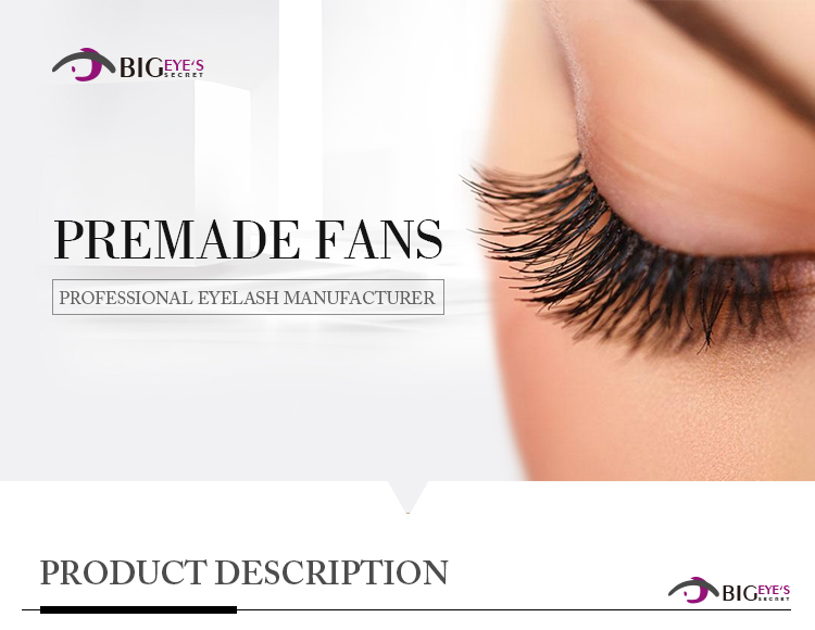 wholesale pre made fans 3D eyelash extensions russian volume lashes with customer packaging