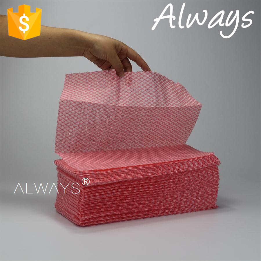 Super oil absorbency household wiping cloth