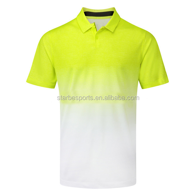 custom new design golf polo shirt dry fit