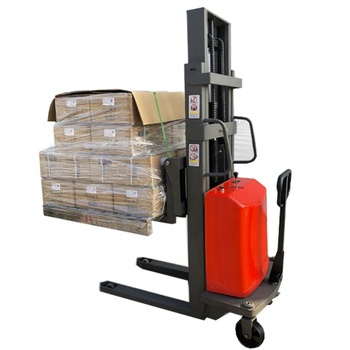 Hand push semi electric forklift truck/electric pallet stacker