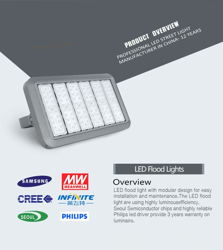 Brand new technology LED flood light module component 100w 200w 300w for stadium light