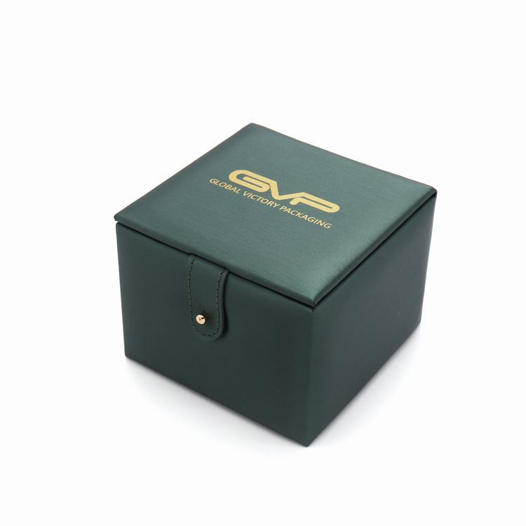 Wholesale factory customize logo high quality pu leather watch box