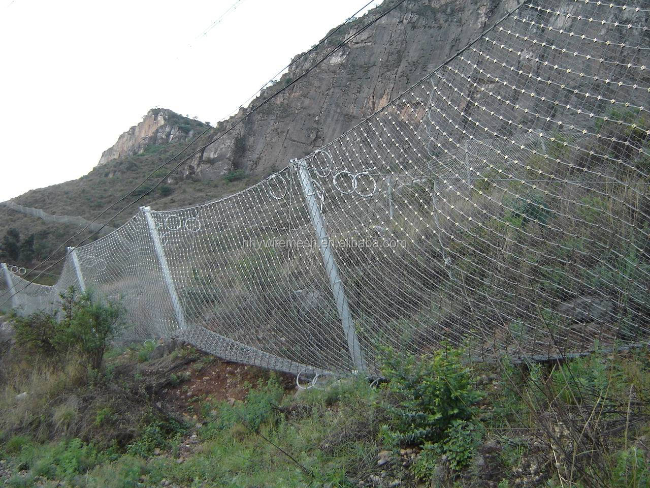 Protection System rockfall netting SNS Flexible Slope security screen wire mesh flexible metal mesh netting