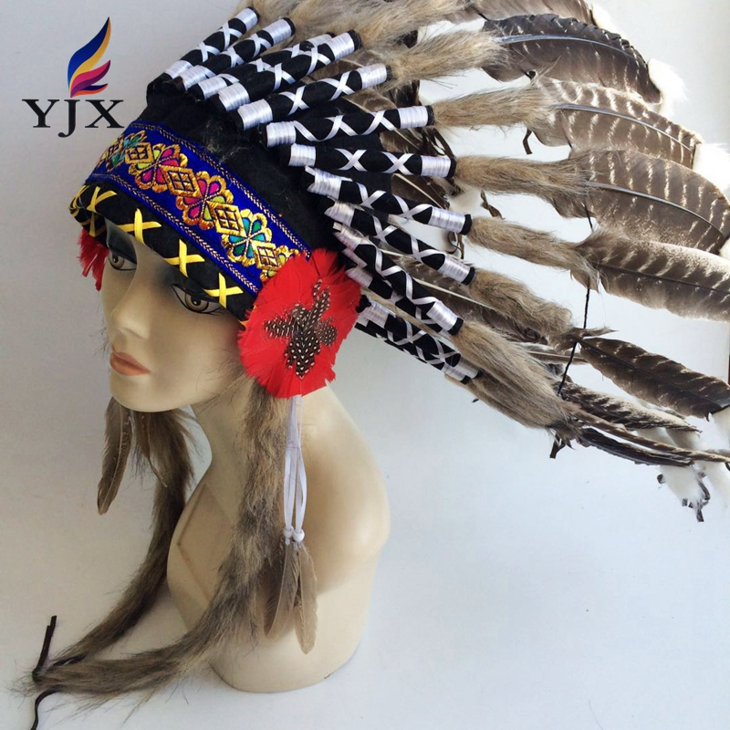 Factory Handmade Indian Fancy Feather Headdress For ...