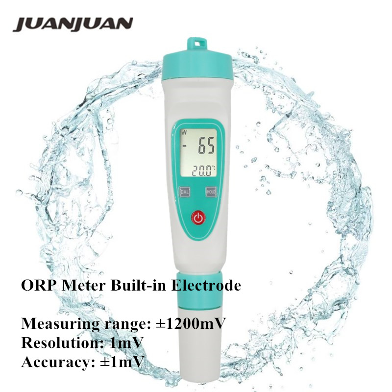 ORPBL Pen Type Digital ORP Meter Water Tester Pen Oxidation Reduction Potential Tester Built-in Electrode
