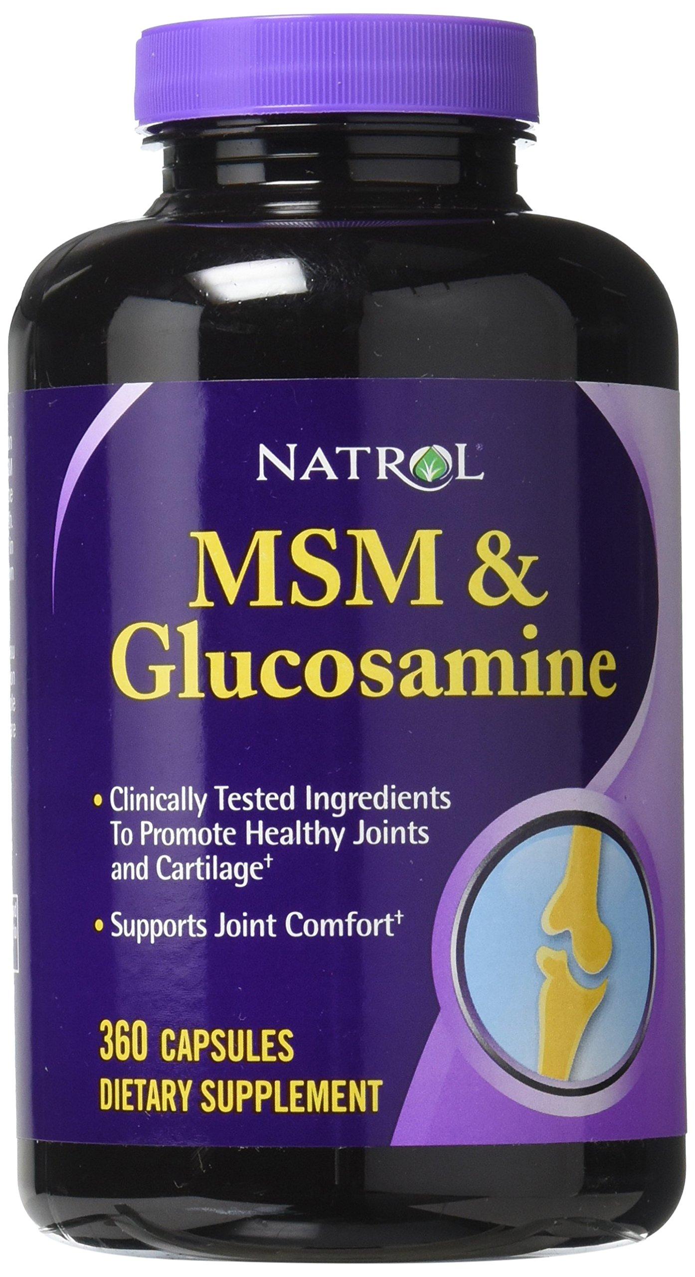Natrol MSM & Glucosamine Capsules, 360 Count