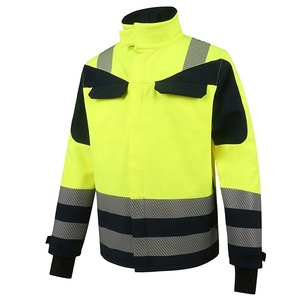 compound fleece safety jacket with reflective tape