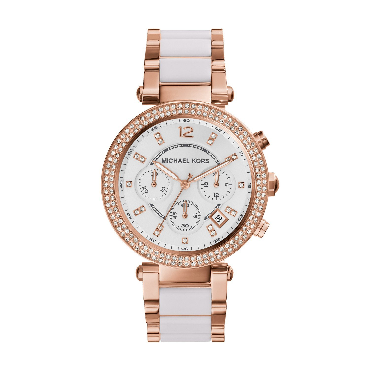 Get Quotations · Michael Kors Women s Parker Rose Gold-Tone Watch MK5774 e1c40b0966