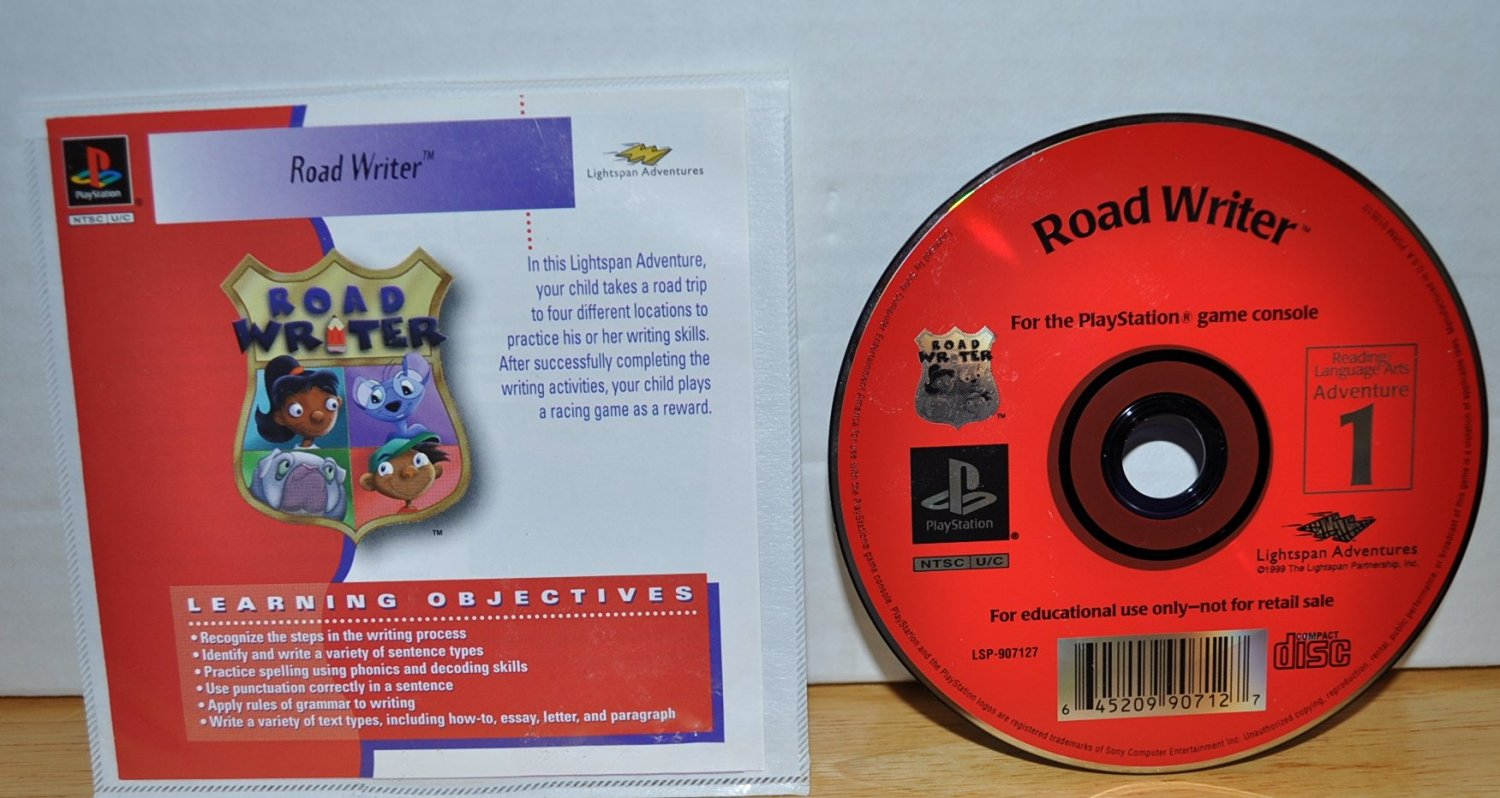 Road Writer - Reading & Language Arts Adventures 1 - Road Writer Series - Lightspan Adventures - Playstation Educational Learning Objective Based Software (Approved for Class Room Use)