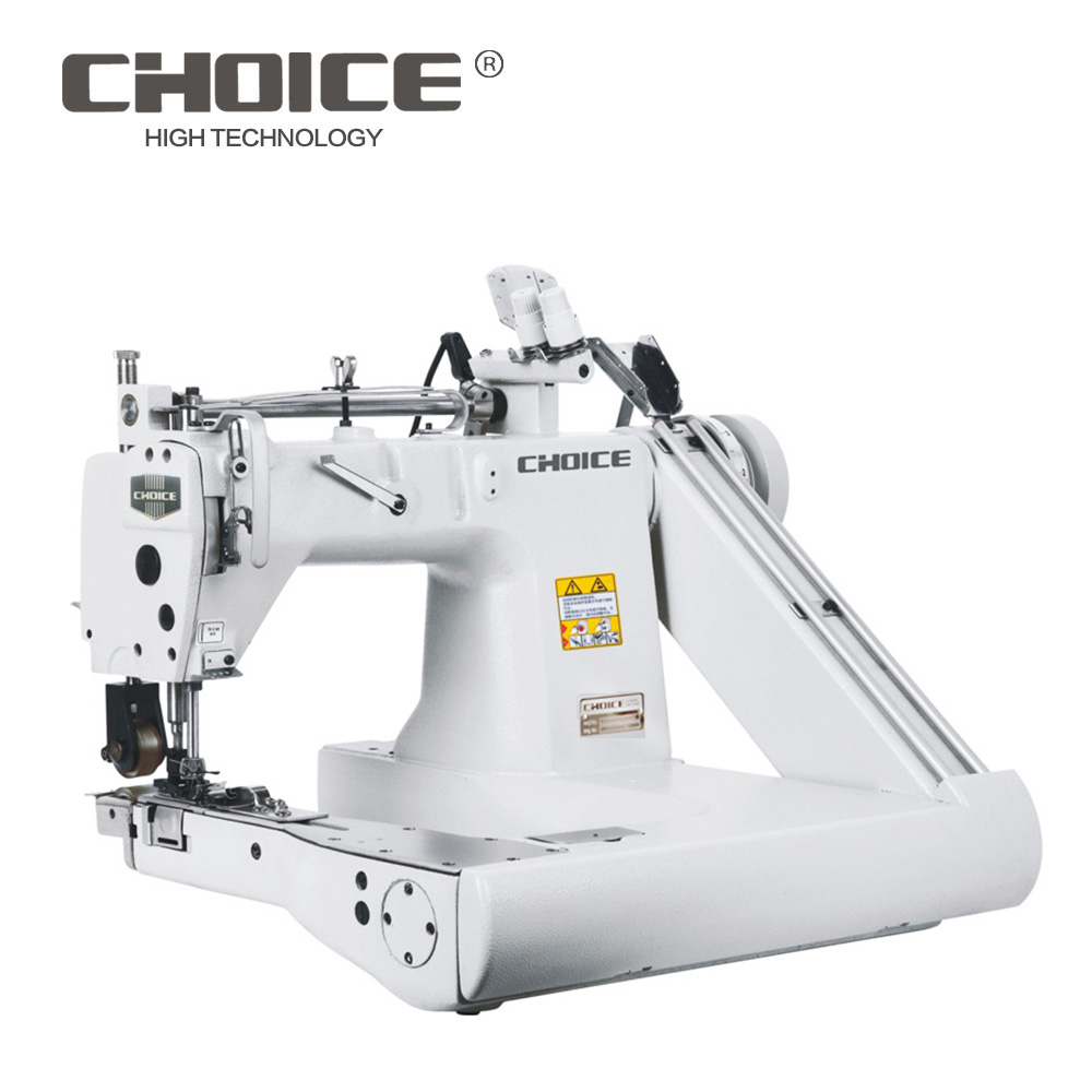 GC9280-2PL Golden Choice 3-needle feed-off-the-arm industrial sewing machine with inner double pullers