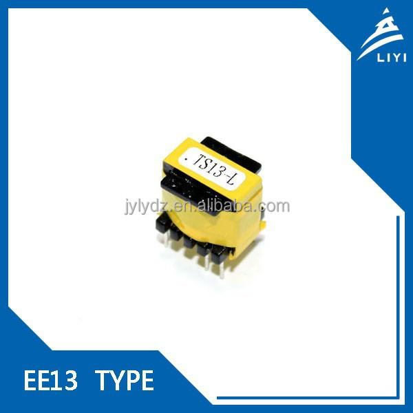 EE13 ferrite core yellow tape high frequency single SMPS transformer 220v to 12v from Chinese Factory