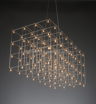 Modern Led Quasar Universe Square Chandelier Hotel Project Lighting Light Product On Alibaba