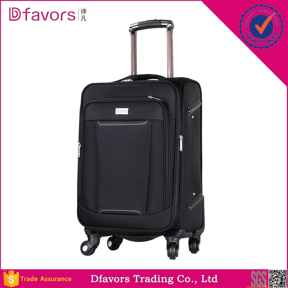 Factory price 2014 oversize trolley case nylon material multifunctional soft trolley luggage in stock