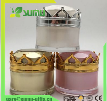 5g,15g,25g,30g new style of crown bottle,cosmetic acrylic jar