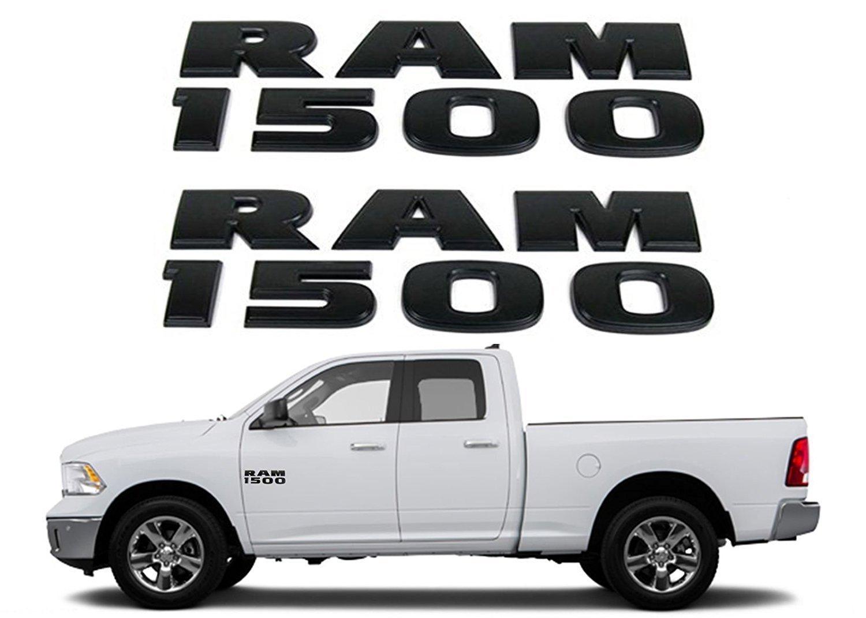 Get Quotations · Black RAM 1500 Emblem Badge 3D Stickers Decals Nameplates  Flat Letter Matte OEM for Dodge RAM