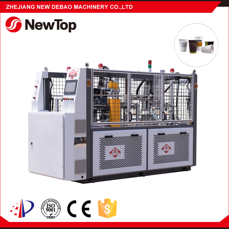 NewTop Hot Sale Waxed Ripple Wall Yogurt Paper Cup Making Machine