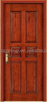 Ordinaire E TOP DOOR 6 Panel Red Oak Traditional Raised Stain Grade Wood Solid Core  Interior