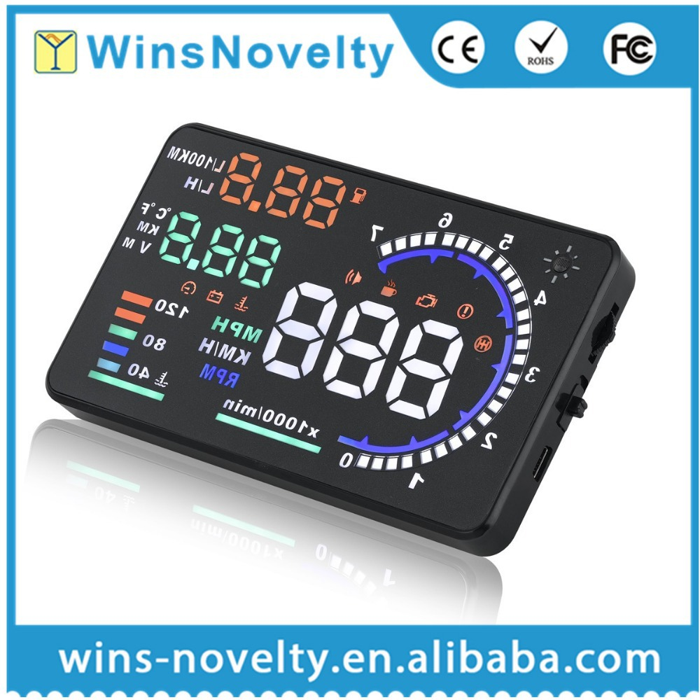 Car A8 GPS HUD Head Up LED Display MPH / KM/h Over Speeding warning Plug & Play