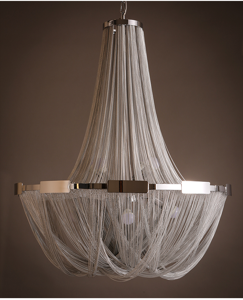 Natural terzani post-modern neoclassical luxury tassel chain oriental chandelier for hotel lobby