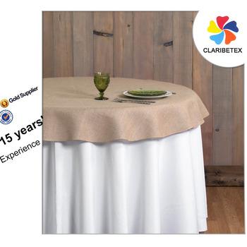 Ordinaire Burlap Round Table Cloth, Wedding Table Overlay