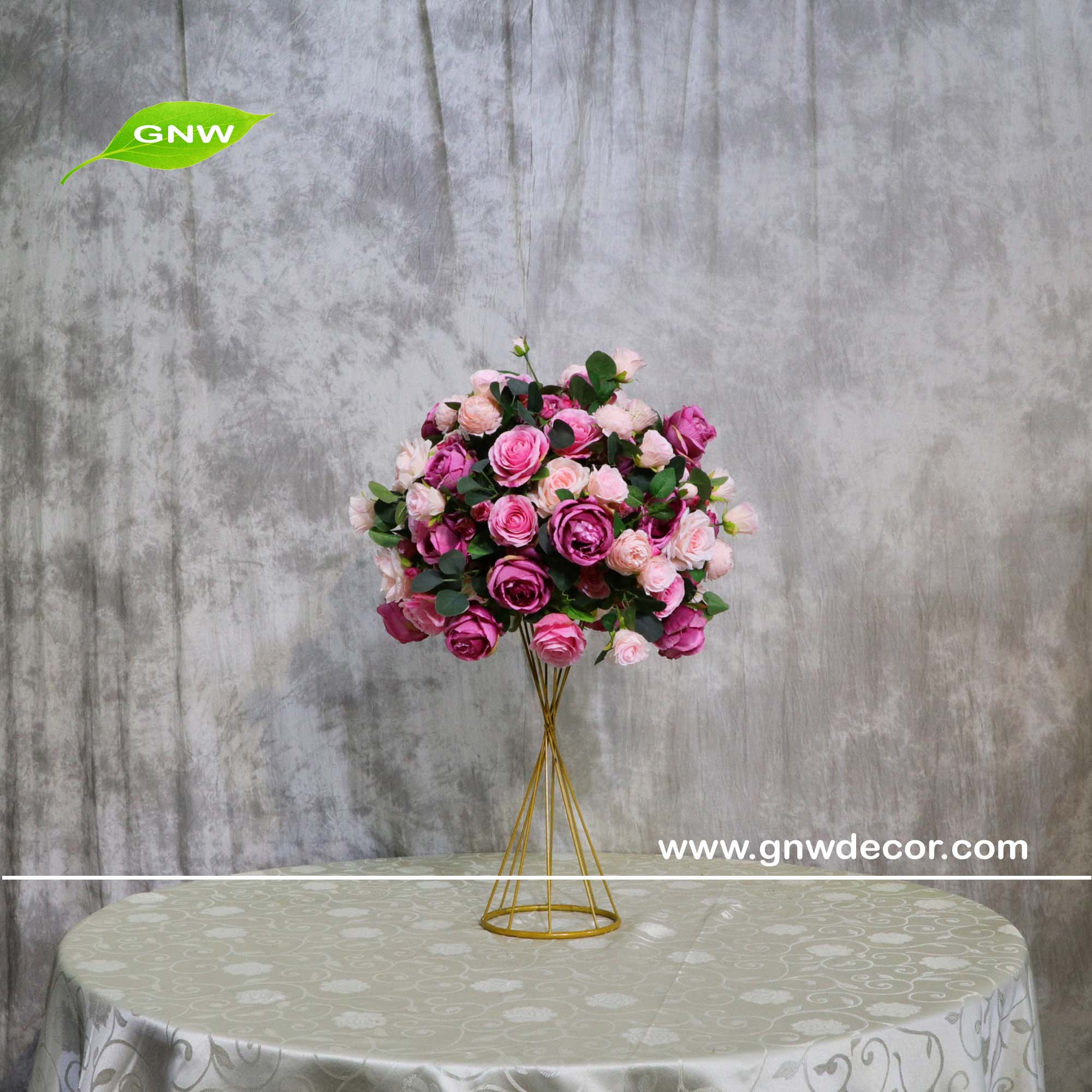 Gnw Ctr1606011 B02 Floral Flower Arrangement Ball Rainbow Colors For Centerpieces Buy Rainbow Foam Ball Dinner Table Stand Wedding Flower Centerpiece Product On Alibaba Com
