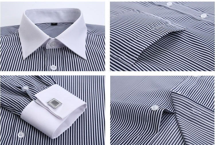 2019 Wholesale Camisa Striped 2017 Mens Luxury French Cuff