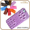 real crocodile leather case for IPHONE 5S / 6 purple color