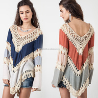 women 's sexy crochet beach bikini cover up with tassels crochet dresses for beach summer vacation YS2007