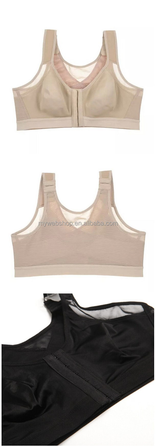 Professional Shockproof Level 3 Women Sports Bra Front Closure and Stable Cross Back Strap Fitness & Yoga Wear