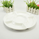 White porcelain eco 5 compartment sectional dinner plates