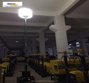 Balloon light tower generator diesel gasoline petrol metal halide 2*1000W LED 3*240W portable trolley tripod inflatable lamp