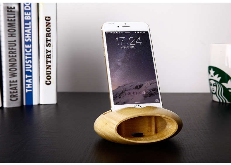 Legno docking station supporto del basamento per iphone