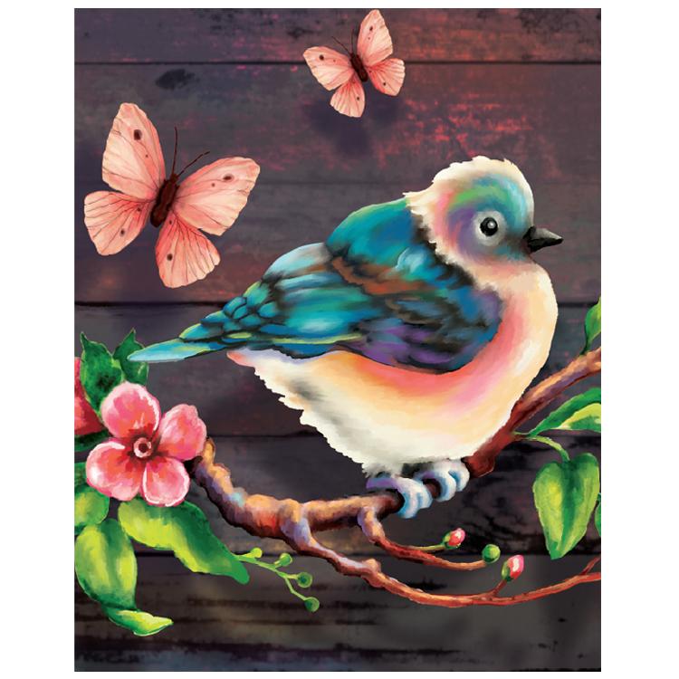 DIY Kupu-kupu Stiker Lukisan Berlian Penuh Bor 5D Lukisan Berlian